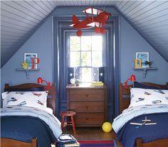twin beds - window
