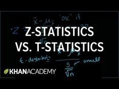 Z-statistics vs. T-statistics Study Skills, Math Skills, Math Lessons, Math Tips, Math Resources, Statistics Help, Statistics Notes, 6 Sigma, Behavioral Analysis