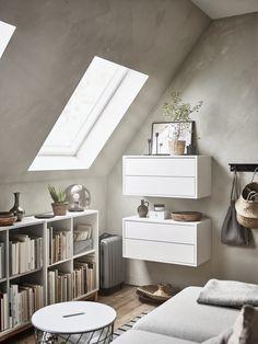 IKEA Deutschland | EKET ermöglicht dir eine Gestaltung von asymmetrischen, ungewöhnlichen, ganz persönlichen Aufbewahrungslösungen. Staple und ergänze nach Geschmack. http://www.ikea.com/de/de/catalog/products/00333947/ #EKET #Wohnzimmer #einrichten #Schubladen