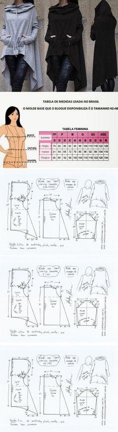 El patrón de la chaqueta deportiva con la capucha (la Costura y el corte) | la Revista la Inspiración de la Laborera