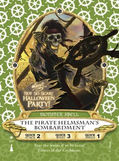 New 'Pirates' Sorcerers of the Magic Kingdom Card Coming to Mickey's Not-So-Scary Halloween Party