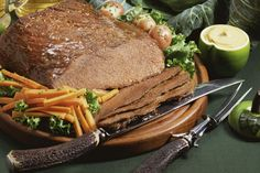 A Tangy Mustard Sauce Accompanies Brown Sugar-Glazed Corned Beef