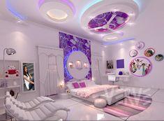 #decor #decoration #interiors #moderndecor Luxury Bedroom Sets, Fancy Bedroom, Neon Bedroom, Luxurious Bedrooms, Room Ideas Bedroom, Light Pink Bedrooms, Cool Teen Bedrooms, Huge Bedrooms, Cool Rooms