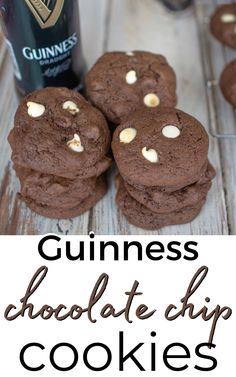 Change things up this Christmas with this fun twist on chocolate chip cookies! Chocolate cookies with white and dark chocolate chips flavored with Guinness Stout -make cookies with beer for some Irish flavor for the holidays.
