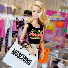 Shop til you drop! Thanks for a fun day @Moschino @itsjeremyscott. #barbie #barbiestyle