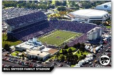 The Kansas State Wildcats play in the Bill Snyder Family Stadium located in Manhattan KS