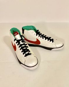63bfe6285de71 Nike Mid High-Top BLAZER Shoes Mens BROOKLYN Edition White Red Black Size  15  fashion  clothing  shoes  accessories  mensshoes  athleticshoes (ebay  link)