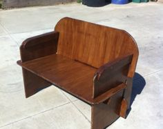 Slot together plywood Wide Seat for camping or backyard gatherings