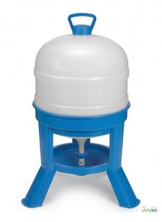 Tripod Poultry Drinker - Blue & White for Chickens/Hens/Birds Water Containers, Hygiene, Wine Making, Hens, Poultry, Pet Supplies, Ebay, Garden, Products