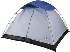 """Suisse Sport 7 x 7-Feet Dome Tent #camping #outdoor #tent This tent features 2 standing poles and easy to snap clips. The rain fly has a 600mm coating and it features taped seams. It has a center height of 48"""" and it can fit a maximum of 3 people. This design is easy to use and comes ready to set up. The door is T-shaped and leaves a lot of space for in and out loading."""