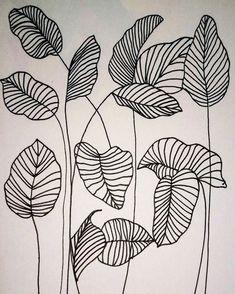 Pared de acento del sótano-#acento #pared #sotano Leaf Drawing, Wall Drawing, Plant Drawing, Line Drawing Art, Art Du Croquis, Diy Tattoo, Tattoo Ideas, Tattoo Art, Tattoo Designs