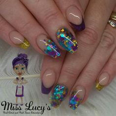 Zapp glitter with superfine gold and purple tips