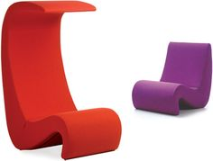Verner Panton's iconic chair designs set the stage for modern furniture of his era, and here is the Amoebe High Back Chair available from Hive Modern