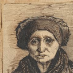 Vincent van Gogh - Head of a Woman, 1885 Artist Van Gogh, Van Gogh Art, Art Van, Vincent Van Gogh, Van Gogh Drawings, Van Gogh Paintings, Dutch Artists, Famous Artists, Gouache