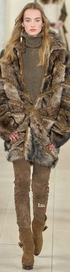 Ralph Lauren Fall Winter 2015-16 RTW - Faux fur, I hope