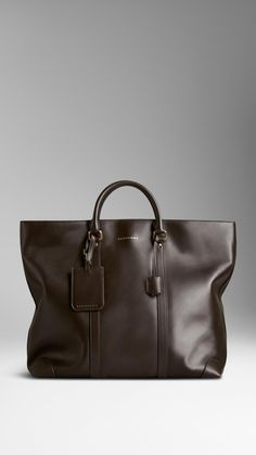 Sartorial Leather Tote Bag   Burberry