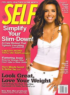 Eva Longoria, IMTA 1998, on the cover of Self!