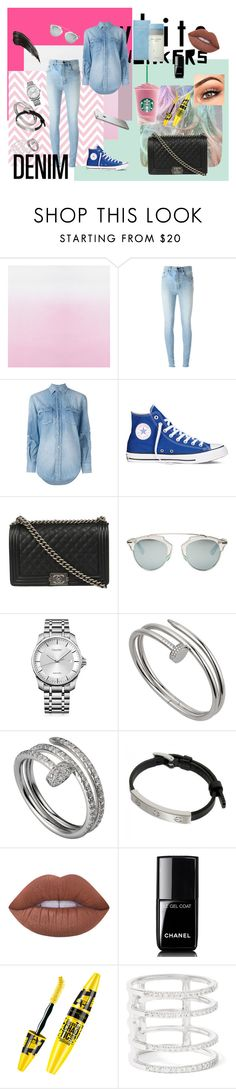 """YSL Denim"" by vitaestspeciosa on Polyvore featuring Yves Saint Laurent, Converse, Chanel, Christian Dior, Calvin Klein, Cartier, Lime Crime, Khai Khai and Dolce&Gabbana"