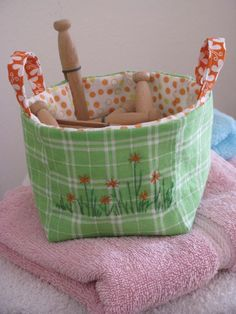 Zakka fabric basket- I need to find the book!