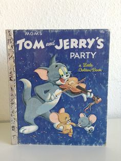 """Vintage Little Golden Book, MGM""""s Tom and Jerry""""s Party by Steffi Fletcher"""
