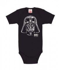 Body para bebé Darth Vader – El Retrato – La Guerra de las Galaxias – Star Wars – Darth Vader – Portrait – Pelele para bebé – Azul Oscuro – Diseño original con licencia – LOGOSHIRT, talla 62/68, 3-6 meses