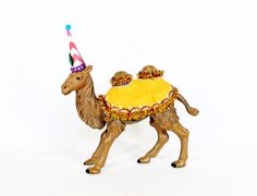 """Party Animal """"Charlie"""" The Camel- painted carnival, circus, and birthday decor"""