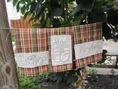 Harvest Moon Raggy Stitchery Fall Towel by thePATchworksshop