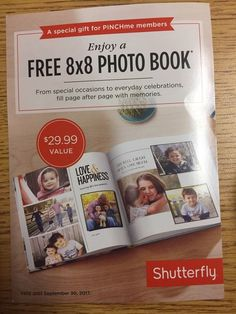Shutterfly Coupon - 8x8 Photobook Exp 9/30/2017