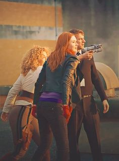 The Ponds. #DoctorWho Mother, Father, and Daughter <3
