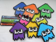 Splatoon  Colorized Minigame Squiddie Bead by CorneliusPixelCrafts