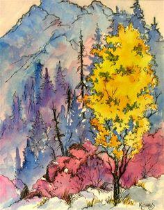 """Aspen Mountain"" - Original Fine Art for Sale - © Martha Kisling"