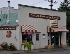 One of my favorite places in the whole wide world- the deck overlooking the river. Siuslaw River Coffee Roasters In Florence, Oregon