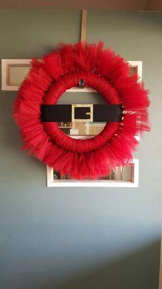 Santa Belt Wreath by SugarBrookDesigns on Etsy