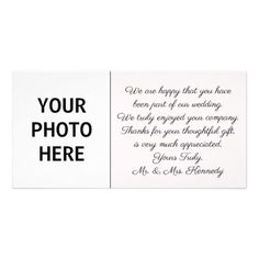 DIY - Wedding Thank You Photo Insert Card - wedding thank you gifts cards stamps postcards marriage thankyou