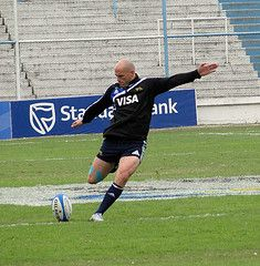 Felipe Contepomi - doing some kicking practice with the Pumas.