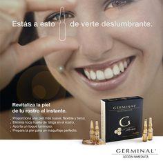 #AcciónInmediata Tú eres única y tu piel también. Por eso, Germinal ha creado un revitalizador específico en forma de ampollas para aquellas pieles especialmente sensibles y frágiles por su extrema sequedad.