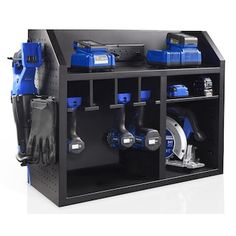 Power Tool Organizer, Power Tool Storage, Garage Tool Storage, Garage Tools, Power Tools, Sink Organizer, Garage Workshop Organization, Workshop Storage, Wood Shop Organization