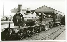S.& D.Jt.Rly. No. 18 at Bournemouth West, c.1900, bound for Templecombe and Bath.