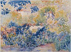 Henri-Edmond Cross: The Artists Garden at Saint-Clair (48.10.7) | Heilbrunn Timeline of Art History | The Metropolitan Museum of Art