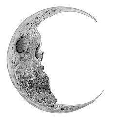 Moon Blackwork  sketch desing ink