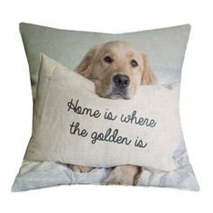 Hurry, it's coming. Don't be left out.  Check out the new arrival now at  http://www.erynhome.com/products/golden-retriever-home-is-where-the-golden-is-pillow-cases?utm_campaign=social_autopilot&utm_source=pin&utm_medium=pin  Golden Retriever ...