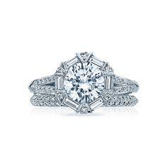 Tacori Crescent Wedding Band 65 Perfect Art deco engagement rings