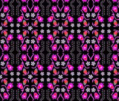 mexi_floral_black fabric by holli_zollinger on Spoonflower - custom fabric