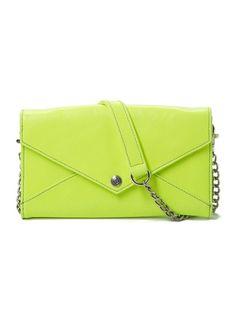Green Neon Purse from Rebecca Minkoff