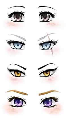 Since I can't draw, I decided to do a study about RWBY's types of eyes...it was a good therapy (and noticed the huge differences between the character's glances that I didn't realized before L...