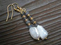 ON SALE Mistique Skylabradorite and keishi pearl by LARIMAR, $22.00