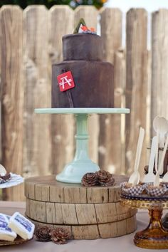 Adorable camping theme baby shower