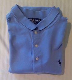 Ralph Lauren Polo PGA Golf Light Blue XL Men's Short Sleeve Rugby Casual Shirt #RalphLaurenGolf #PoloRugby