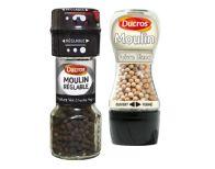 Moulins à poivre et à sel , ducroc  propose différents moulins à épices pour assaisonner les plats en dosant facilement. Le Moulin, Sauce Bottle, Soy Sauce, Pepper Mills, Salt, Custom In, Bean Dip