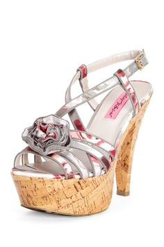af0ce6860ff3ba Betsey Johnson Circle Platform Sandal on HauteLook Stylish Clothes For Women